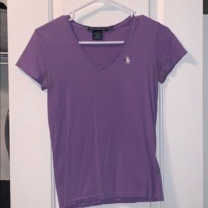 Polo Ralph Lauren Lavender fitted T-shirt